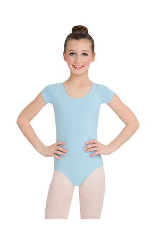 Capezio CC400/C-Cotton Classic Short Sleeve Bodysuit Light Blue