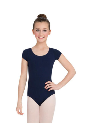 Capezio CC400/C-Cotton Classic Short Sleeve Bodysuit Navy