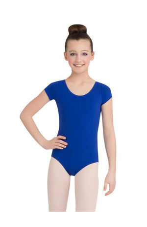 Capezio CC400/C-Cotton Classic Short Sleeve Bodysuit Royal
