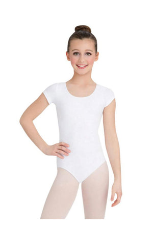 Capezio CC400/C-Cotton Classic Short Sleeve Bodysuit White