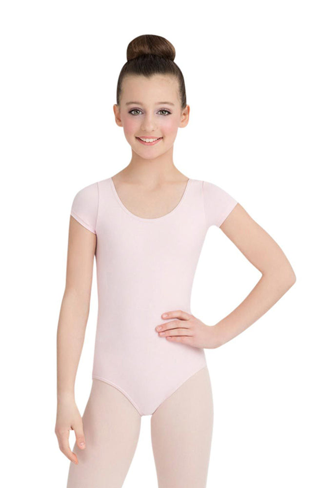 Capezio CC400C Child Pink Short Sleeve Bodysuit