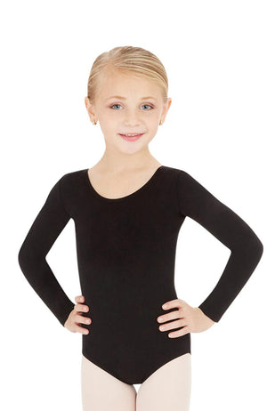 Capezio CC450C Child Black Long Sleeve Bodysuit