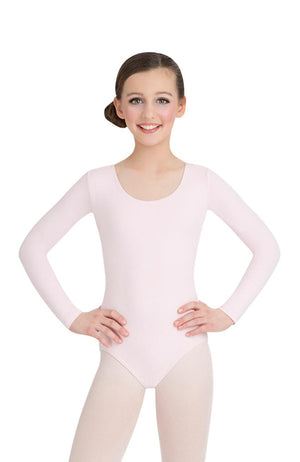 Capezio CC450C Child Pink Long Sleeve Bodysuit