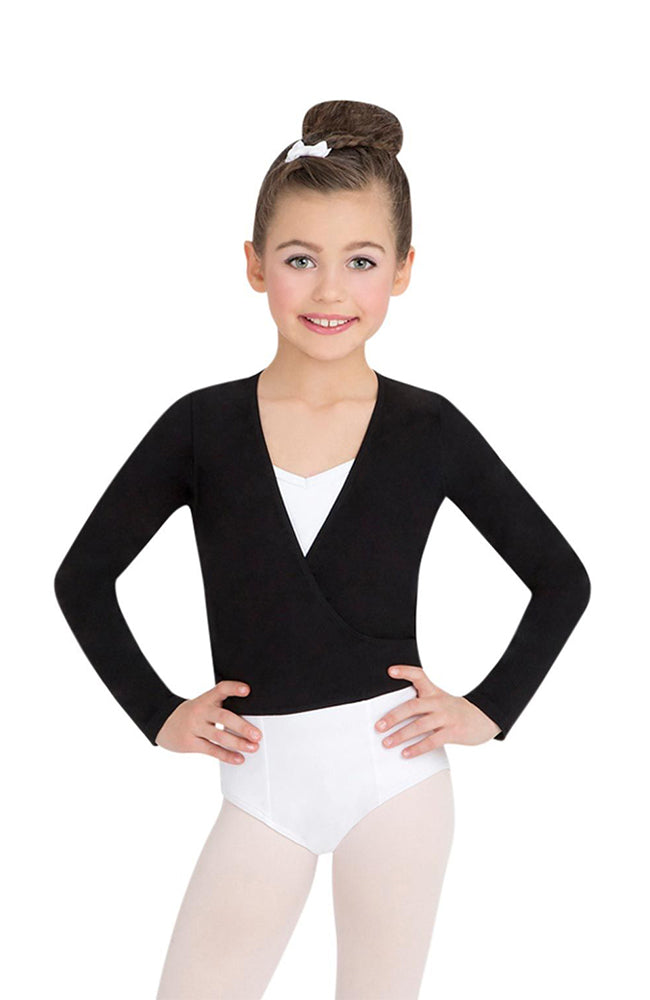 Capezio CC850C Child Black Cotton Classic Wrap Sweater