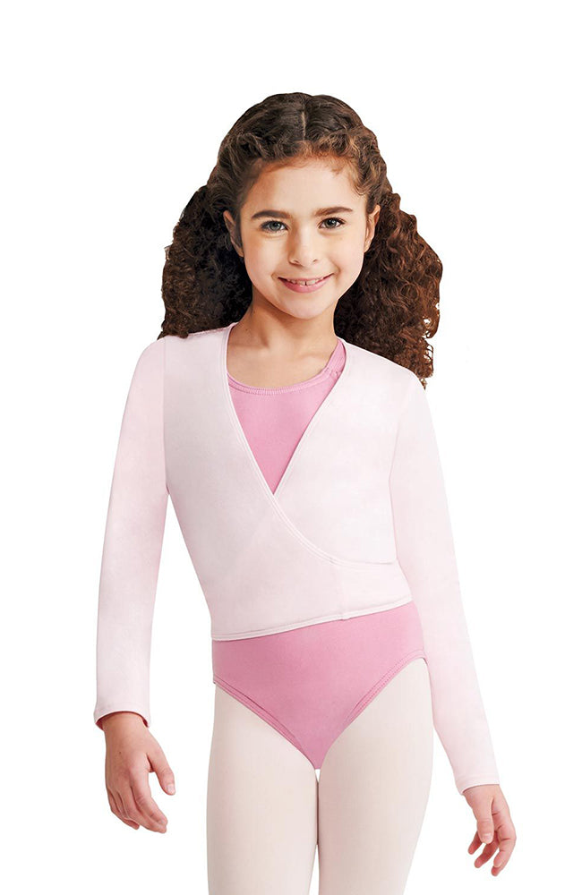 Capezio CC850C Child Pink Long Sleeve Cotton Wrap Top