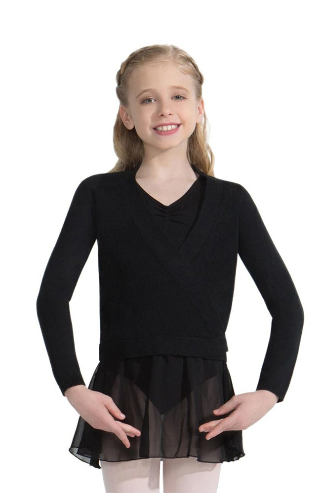 Capezio CK10949C Child Black Wrap Sweater