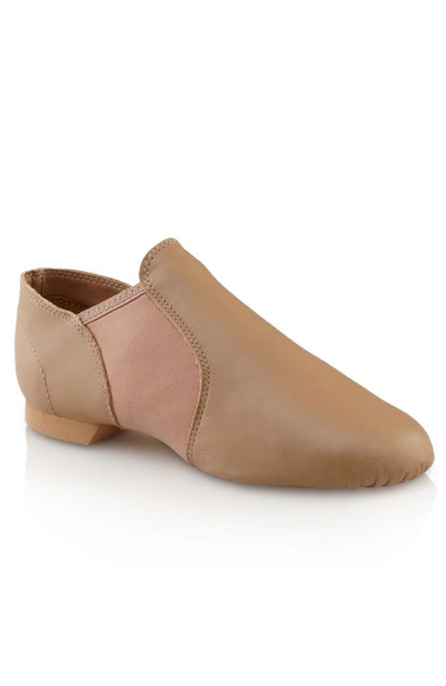 Capezio EJ2A Adult Caramel Leather Slip On Jazz Shoes