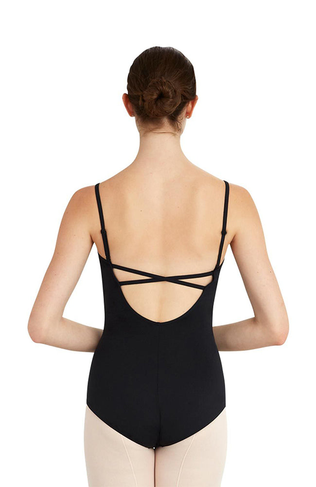 Capezio MC802W Adult Camisole Bodysuit with Criss Cross Back