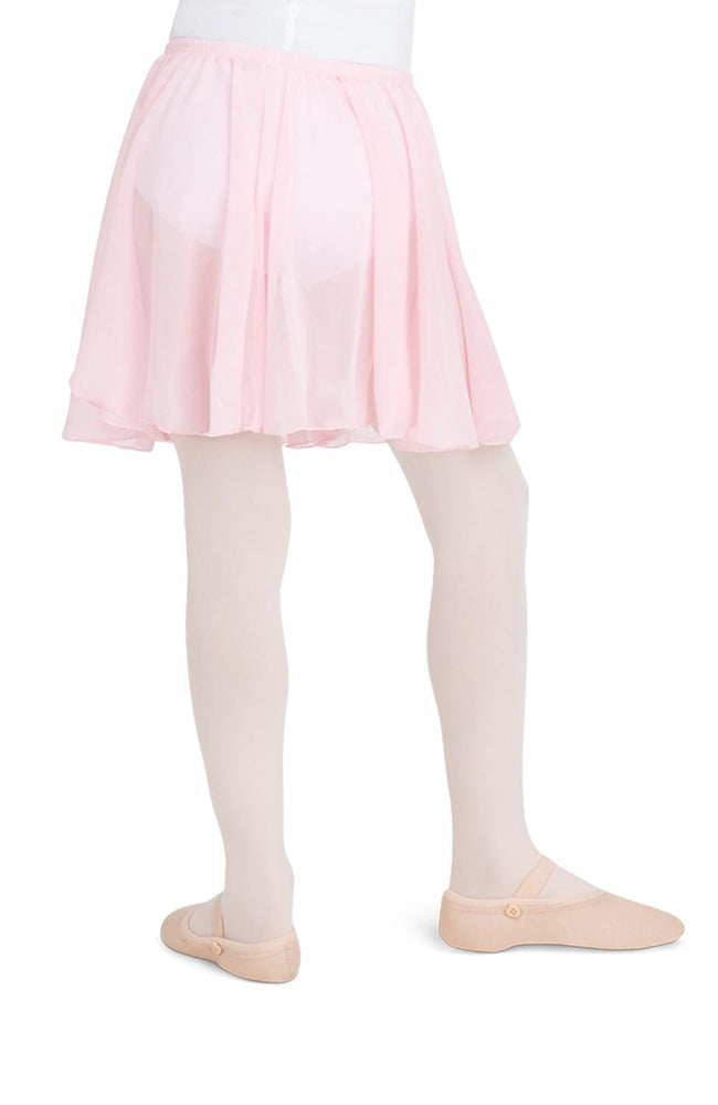 Capezio N1417C Child Pink Pull On Chiffon Skirt