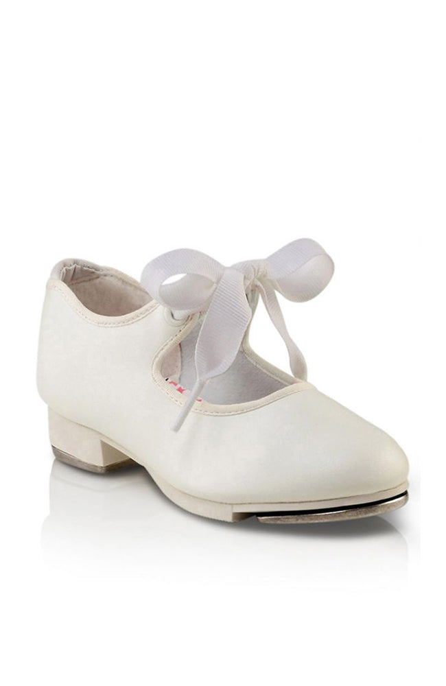Capezio N625C White Jr. Tyette Child Tap Shoes