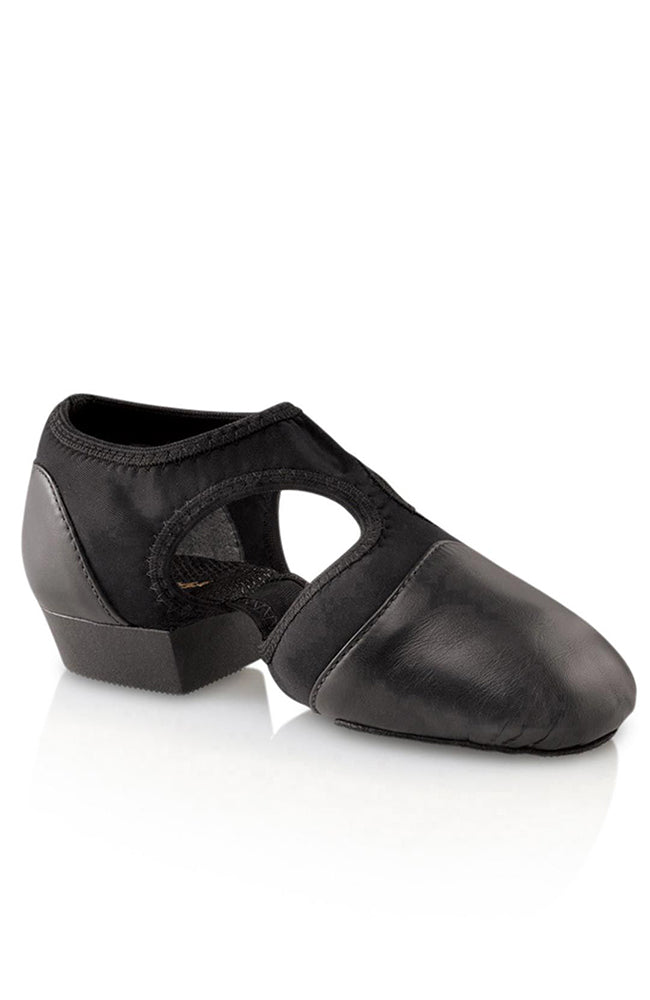 Capezio PP323 Adult Black Leather Pedini Femme Jazz Shoes