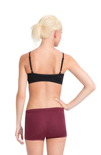 Capezio TB102 Adult Black Adjustable Camisole Strap Bra Top