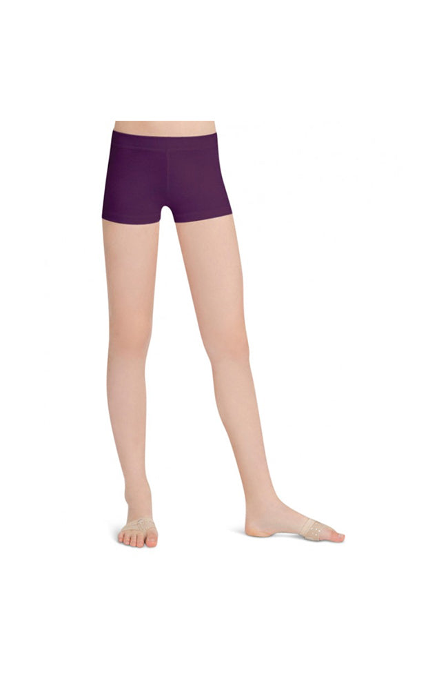 Capezio TB113C Child Aubergine Boy Cut Shorts