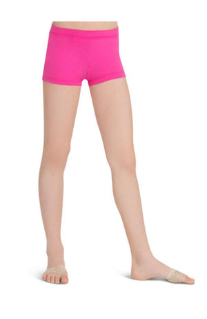 Capezio TB113C Child Low Rise Boy Cut Hot Pink Shorts