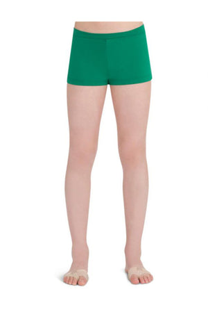 Capezio TB113C Child Low Rise Boy Cut Kelly Green Shorts