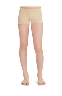 Capezio TB113C Child Low Rise Boy Cut Nude Shorts