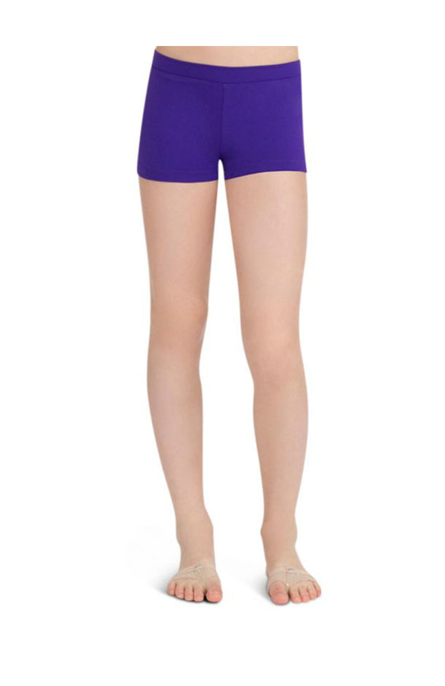Capezio TB113C Child Low Rise Boy Cut Purple Shorts