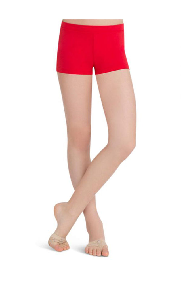 Capezio TB113C Child Low Rise Boy Cut Red Shorts