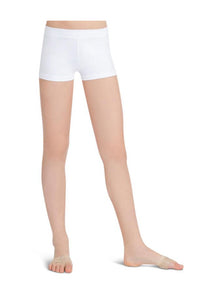Capezio TB113C Child Low Rise Boy Cut White Shorts