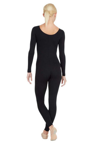 Capezio TB114 Adult Black Full Leg Long Sleeve Unitard