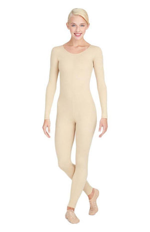 Capezio TB114 Adult Nude Long Sleeve Full Unitard