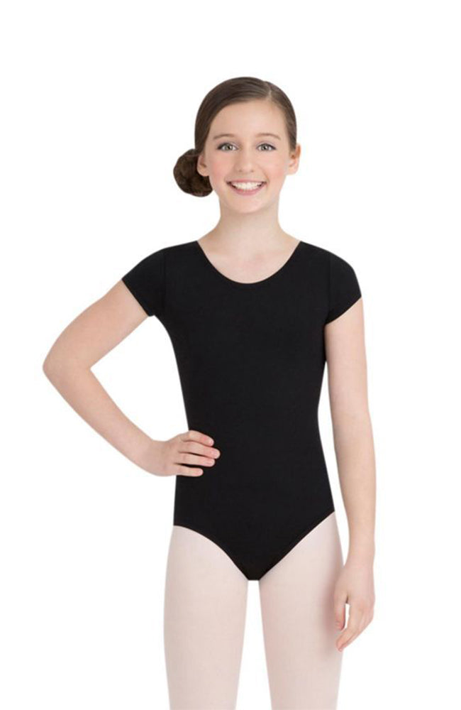 Capezio TB132C Child Black Short Sleeve Bodysuit