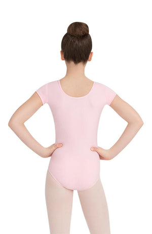 Capezio TB132C Child Pink Short Sleeve Bodysuit
