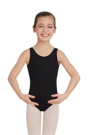 Capezio TB142C Child Black Tank Bodysuit