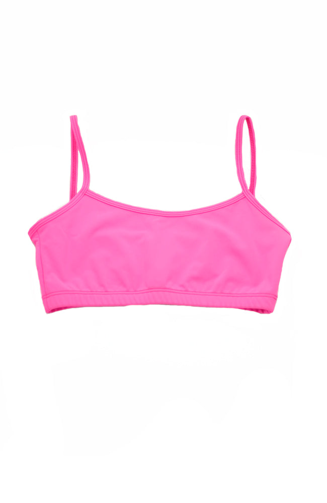Danshuz 155C Child Bright Pink Cami Bra Top