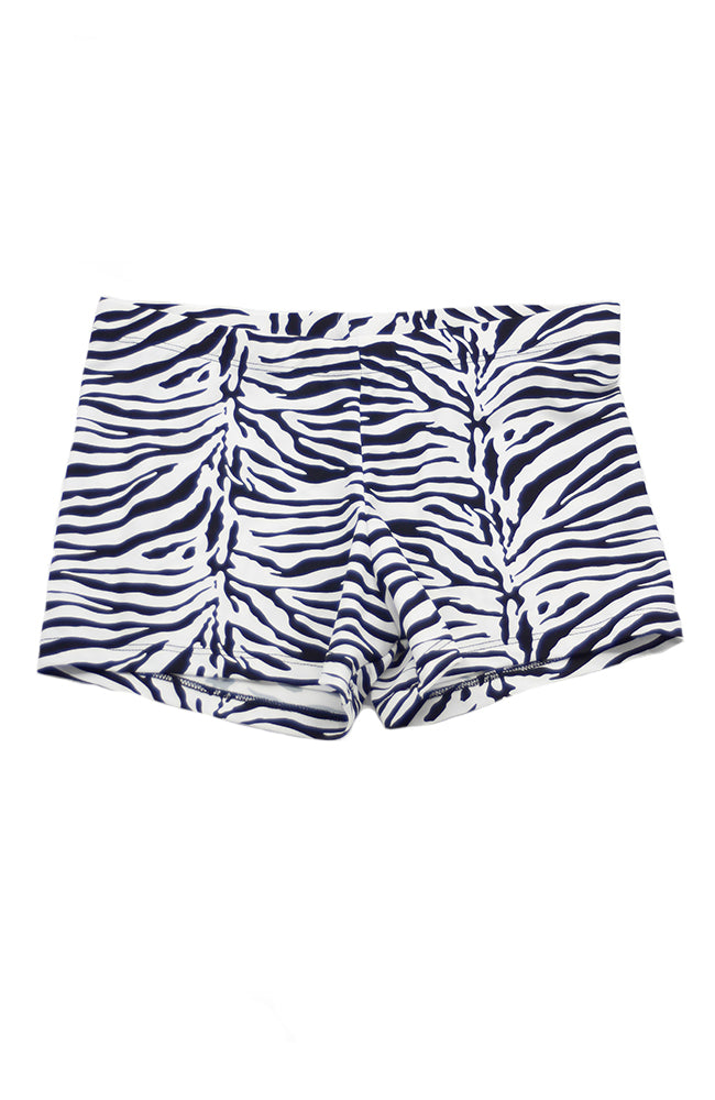 Capezio 257A Black White Zebra Shorts