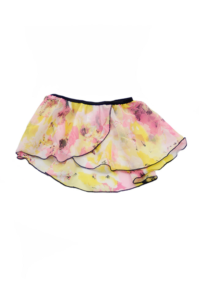 Danshuz 2622 Pink & Yellow Wrap Skirt