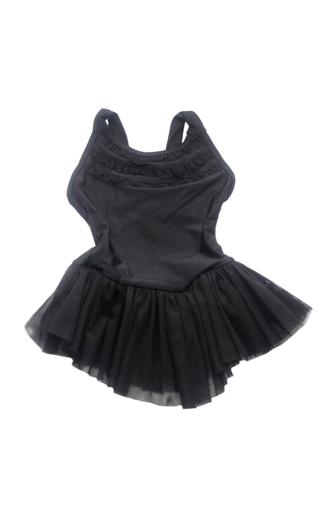 Danshuz DanzNMotion 2715C Black Child Bow Back Dress Front