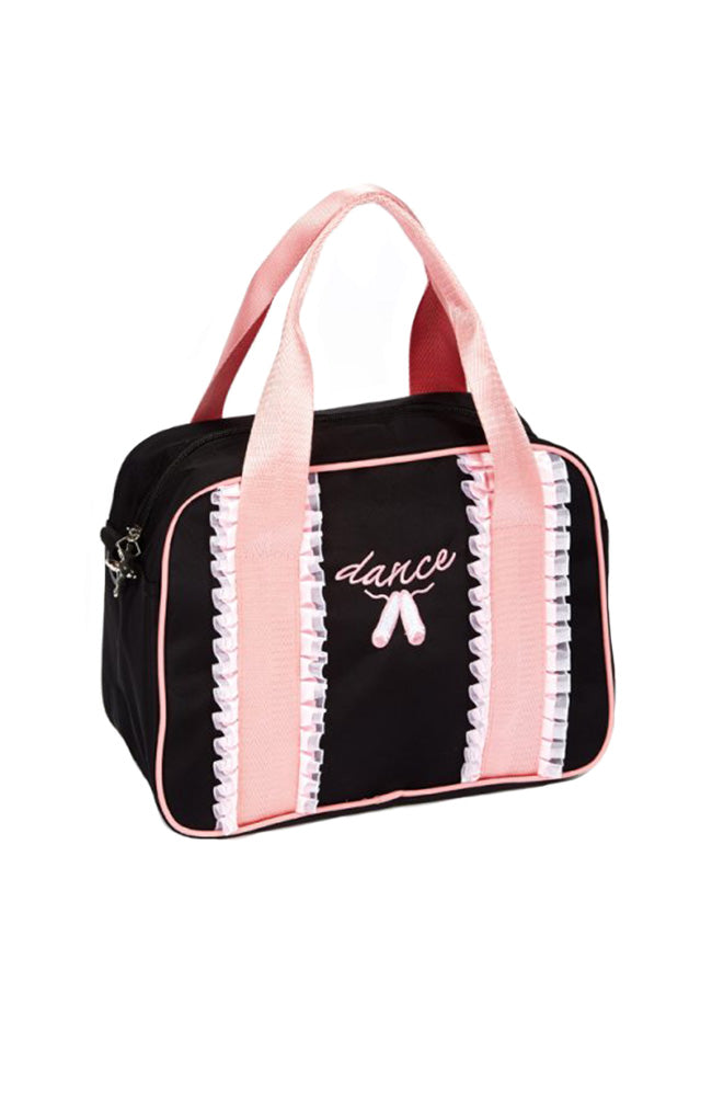 Dasha 4906 Frill Ribbon Square Tote Black