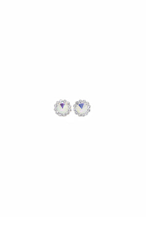 EA022 Sebastiana Iridescent Rhinestone Daisy Pierced Earrings