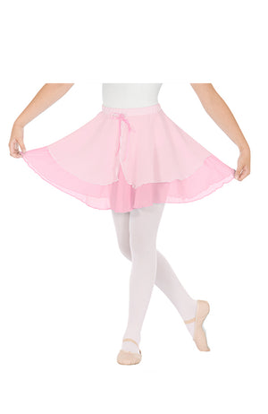 Eurotard 02128 Child Pink Double Layer Pull On Skirt
