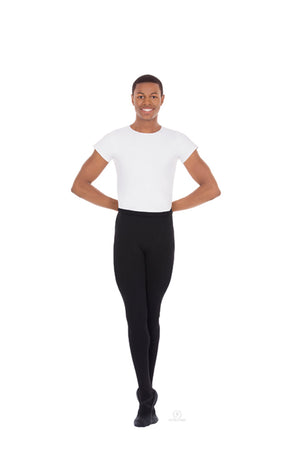 Eurotard 34943 Mens Black Footed Dance Tights