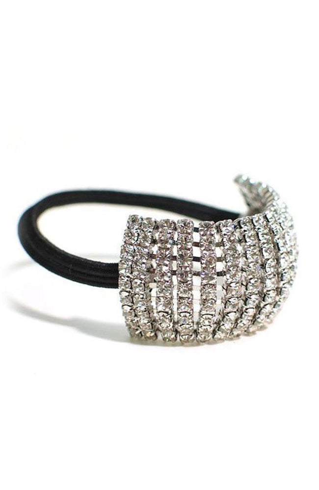 Clear Rhinestone Stretch Ponytail Holder
