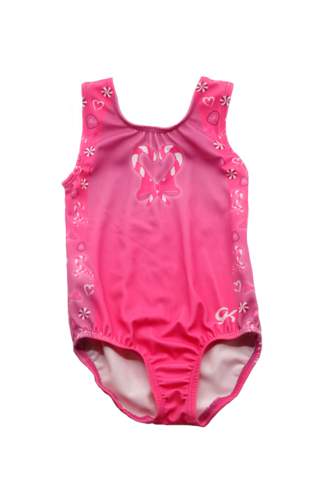 GK E3168 Candy Tank Gymnastic Bodysuit Front