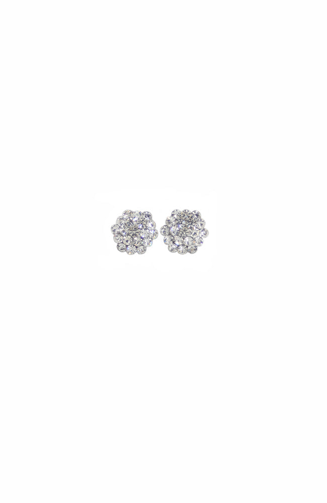 Glitter Pie Clear Crystal Cluster Pierced Earrings