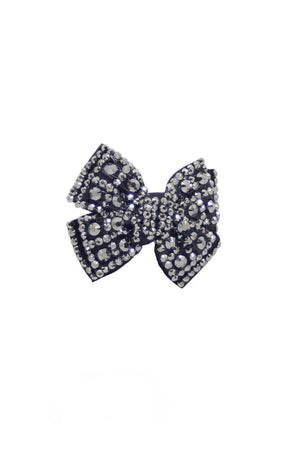 Glitter Pie Rhinestone Hair Bow on Clip
