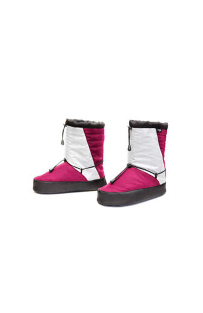 Grishko 2305 Moonwalk Warmup Booties Magenta and White