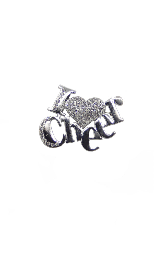 I Heart Cheer Pin 2604
