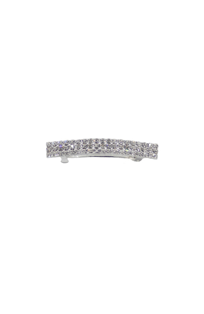 Kissed By Glitter SS065 3 Row Clear Crystal Barrette