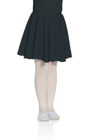 Mondor 16207 Child Black RAD Pull-On Chiffon Skirt