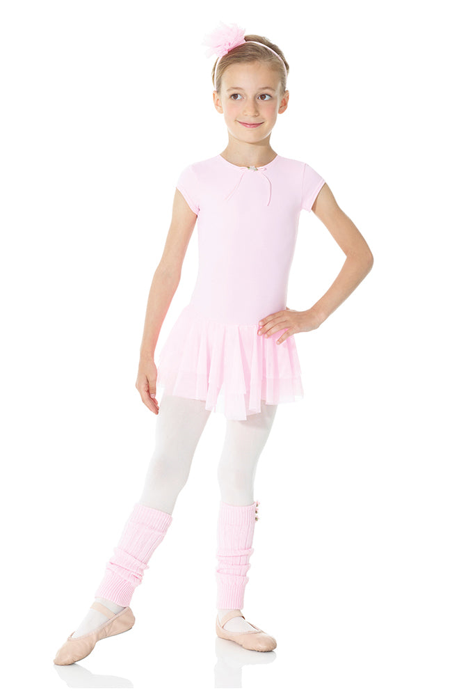 Mondor 26140 Child Pink Cap Sleeve Dress