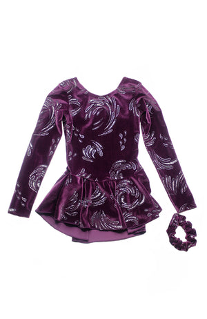 Mondor 2723 Long Sleeve Skate Dress Purple Rain