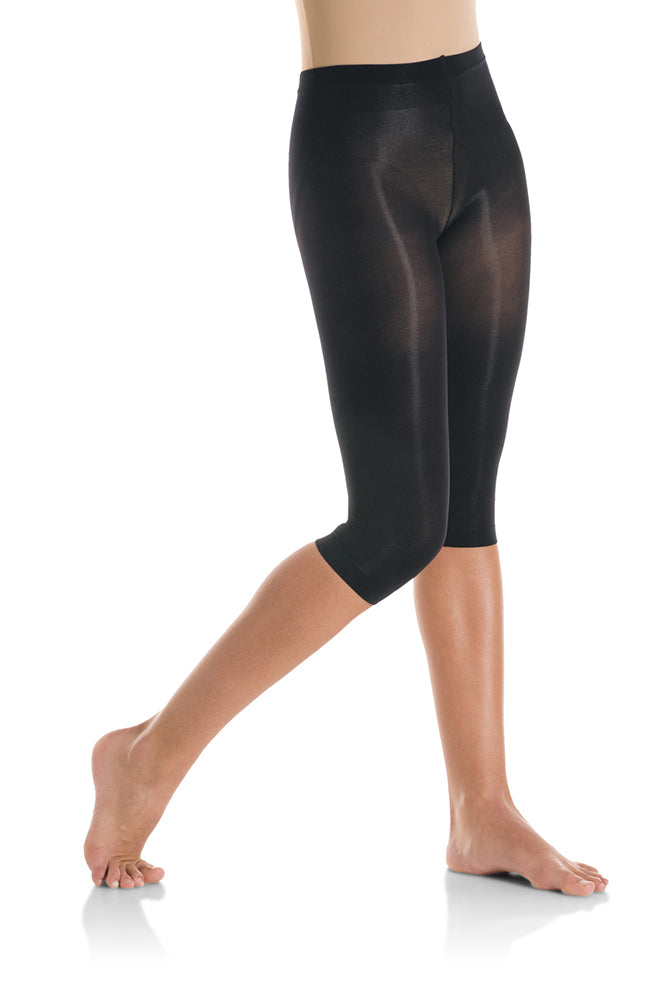Mondor 317 Adult Black Ultra Soft Capri Dance Tights