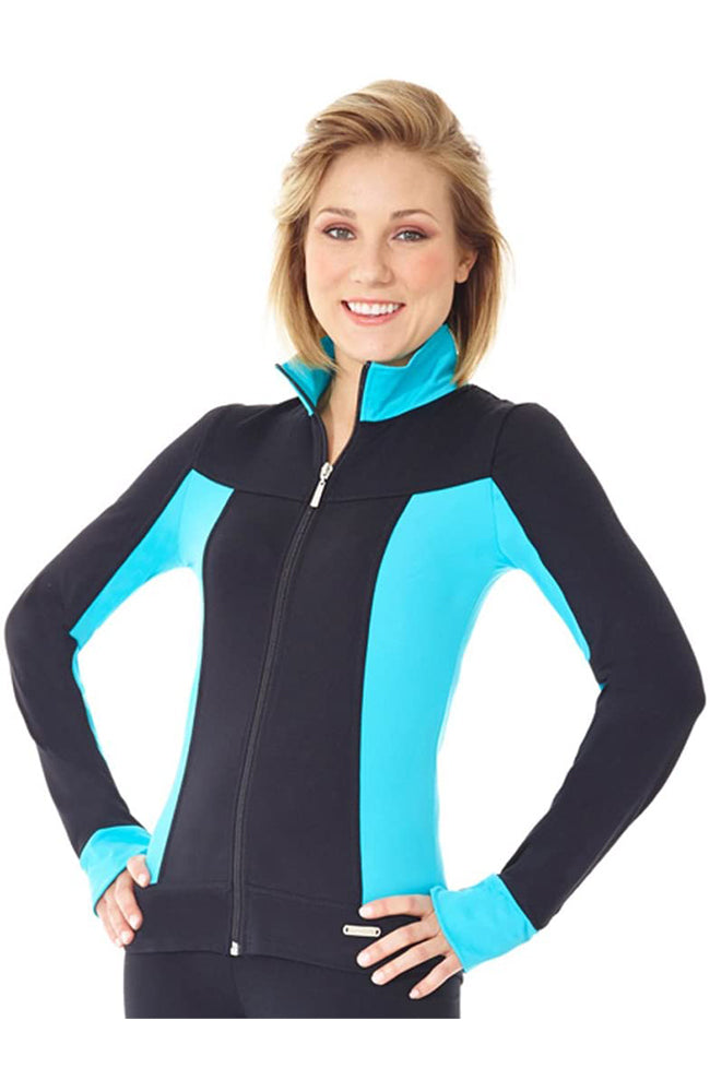 Mondor 4807 Supplex Zippered Practice Figure Skate Jacket 51 Scuba