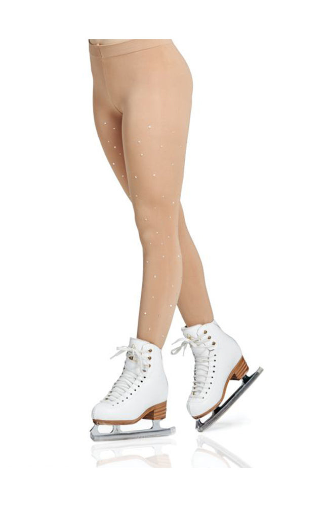 Adult Footed Rhinestone Skate Tights