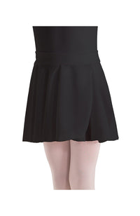 Motionwear 1011 060 Pull On Mock Wrap Skirt Black
